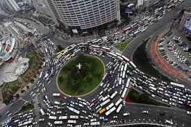 traffic circle in China